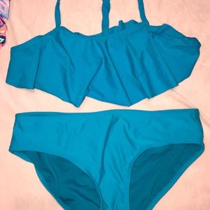 Old navy girls bikini xl. Teal